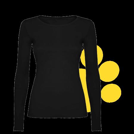 Camiseta mujer manga alrga oscura